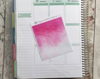 Pink Watercolour Headers, Planner Stickers for use with ERIN CONDREN LIFEPLANNER™, Happy Planner, Plum Paper Planner