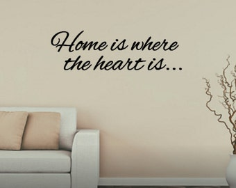 Home is where the heart is wall vinyl decal sticker your