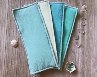 Zorb Cloth Diaper Inserts/Boosters-Sea Glass Colors