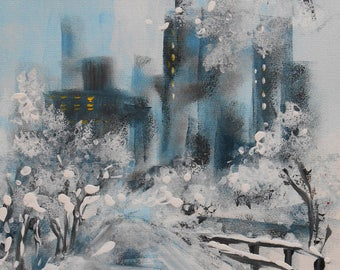 "Painting "" Snow on the city """