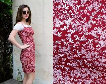 S ESPRIT Floral Spaghetti Strap Dress Size Small