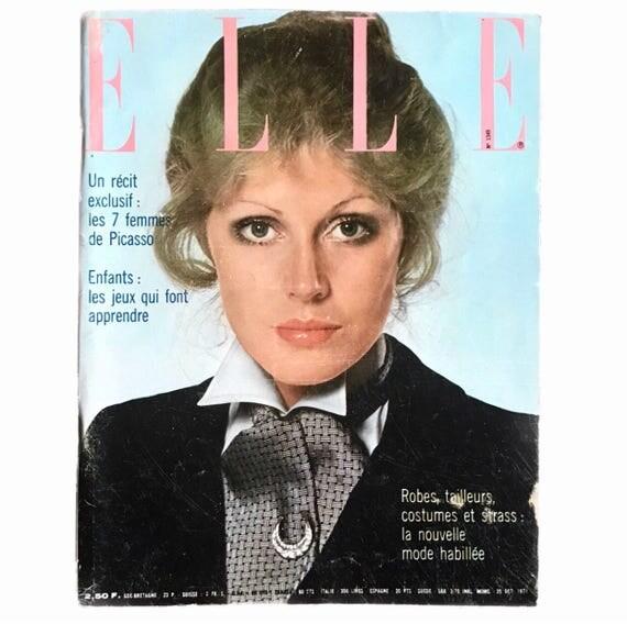 Elle Paris, October 25, 1971.
