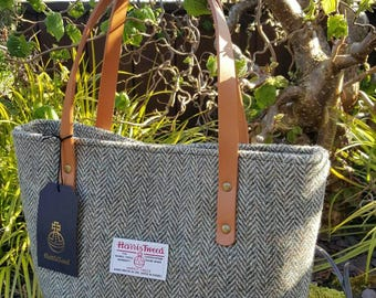 Harris Tweed tote handbag