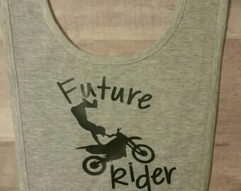 Future Dirt Bike Rider/Boys Dirt Bike Bub/Motorcycles/Dirt Bikes/Boys Bibs/Baby Boys Dirt Bikes/Boys Bibs/Kids Dirt Bikes/Bibs/Baby Bibs