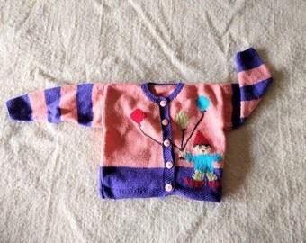 Handmade baby knit cardigan