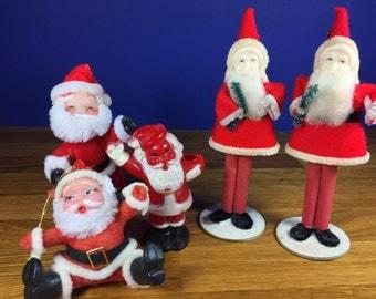 Vintage Santa's 5pc