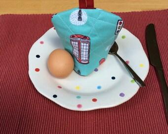 Egg Cosy, Egg Cozie, Egg Warmer, Egg Cosy with Loop, Looped Egg Cosy, Housewarming Gift, Single Egg Cosy, Novelty Egg Cosy, Lined Egg Cosy