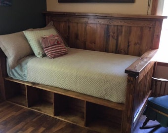 Farmhouse Twin Daybed with storage -- customizable