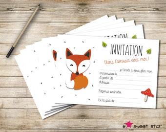 Set of 8 cards of Invitation birthday child