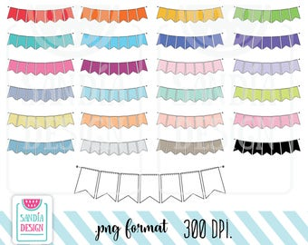 45 Doodle Banner Clipart. Personal and comercial use.