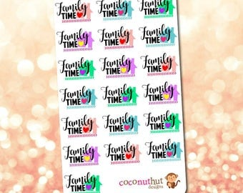 Family Time Planner Stickers