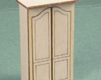 1:48 Dollhouse Miniature Armoire Kit Kit/ Quarter Inch Scale Furniture KBM Q312