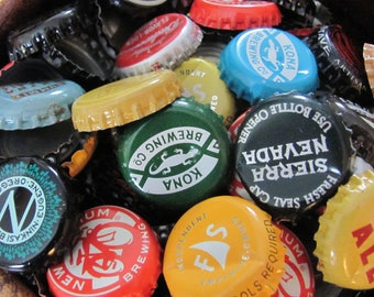 One Pound of 200 Beer Bottle Caps, Lot of Bottle Caps