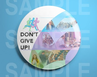 "JW.org Convention 2017 Pin ""Dont Give Up!"" only English"