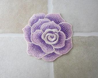 Purple Flower Sew On Patch