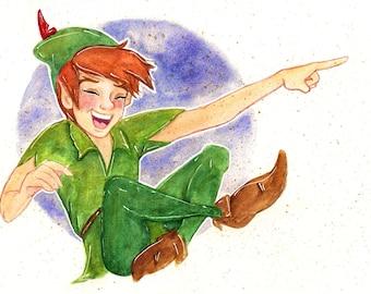 Peter Pan Watercolor