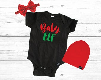 Elf Christmas Shirt, Baby Outfit, Baby First Christmas Shirt, 1st Christmas Shirt, Holiday Shirt, Christmas Gift, Christmas