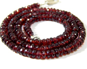 Mozambique Garnet Faceted Rondelle beads 100% Natural Gemstone Size 5x4.5 mm Approx