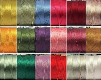 Embroidery floss, Viscose thread, 1mm, Rayon thread ,Nylon , commercial Silk , embroidery,beading, lace crochet, tassel making thread