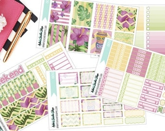 A La Carte Aloha Weekly Kit for ECLP Vertical Planner Stickers
