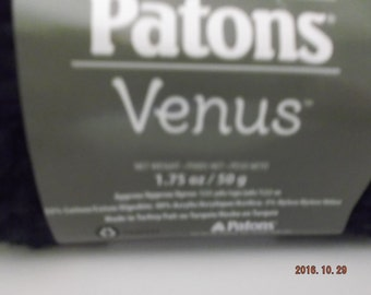 Patons Venus Yarn ~ Navy #10110 ~ 50 grams ~ 133 Yards  #4 Medium ~
