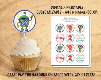 UMIZOOMI CUPCAKE TOPPERS | Team Umizoomi Party Decor | Umizoomi Birthday