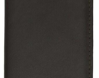 European Style Bifold Trifold Genuine Leather Wallet with ID Window Black, Brown, Tan, Burgundy 518 CF