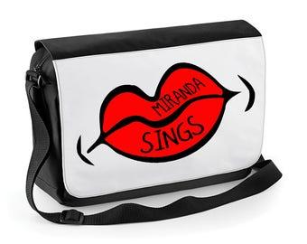 Miranda Sings red lips Messenger / Reporter bag