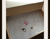 Pink sparkle heart bracelet SALE Now 13.00 GBP