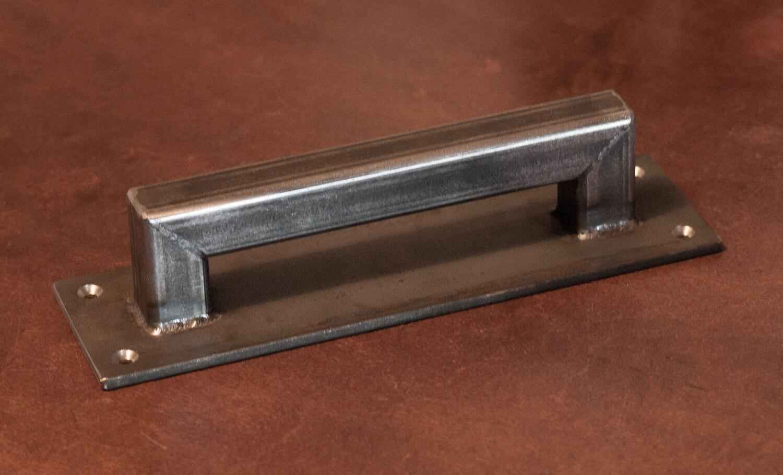 1 Steel Sliding Barn Door Handle *LOW PROFILE - Loft Door ...
