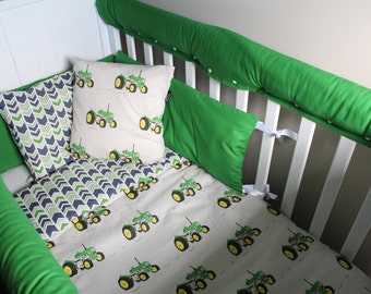 Tractor themed cot set