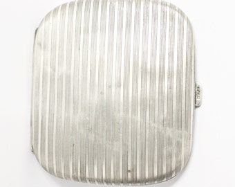 Antique Art Deco Alpacca Cigarette Case Marked c1930s