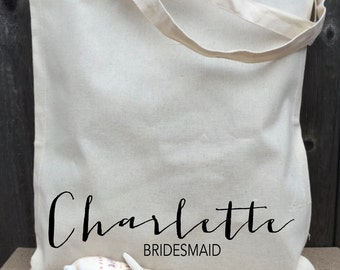Personalized Name Tote, Bridal Tote, Bride Bag, Bridesmaid Tote, Personalized Tote, Bachelorette Tote, Wedding Tote, Wedding Day Tote