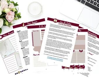Printable Dog Training Planner - Dog Training Planner Download, 8-Week Dog Training Journal - 68 Pages
