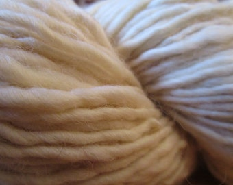 "The spinning wheel Merino ""méchée"" 126 hand spun wool m / 140 gr"