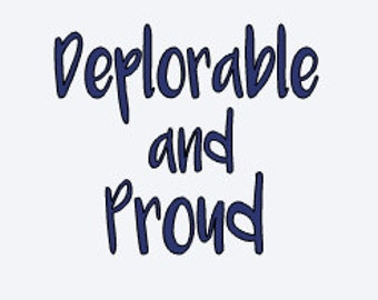 Deplorable Decal - Election Decal - Deplorable and Proud - Republican Decal - Yeti Decal