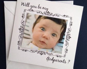 Will you be my Godparent Card, Godparents card, Christening card, Baptism Card, Personalised, Godparents, by Itchy Avocado, FREE UK Shipping