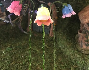 """Miniature Glow Flower Street """"Lamp"""" - Your Choice of Pink, Blue, or Yellow"""