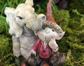 Miniature Pixie Boy with Elephant Friend