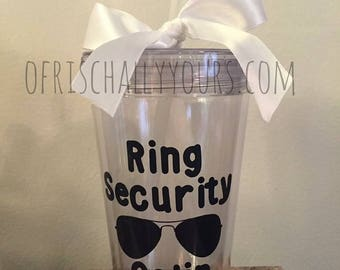 Ring Security Tumbler / Kids Tumbler / Ring Bearer
