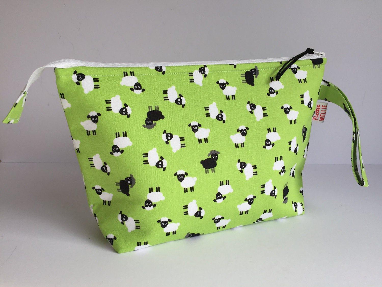small sock knitting project bag