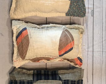 Tattered Quilted Pillows for Boys
