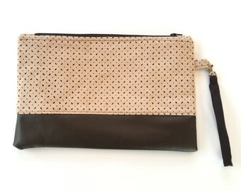 Clutch bag, purse, wristlet.
