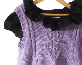 Hyacinth hand knitted dress