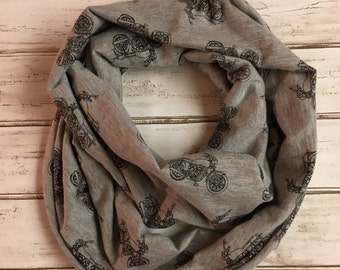 Grey Motorcycle infinity scarf