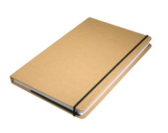 Kraft paper notebook FSC mix credit, 13 x 21 x 1.5 cm, 100 sheets, 80 GSM