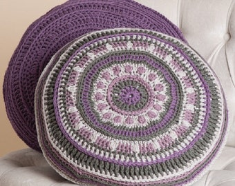 Mind Your Mandala Pillows Crochet Pattern only Woolly5 Yarn