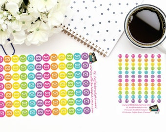 Planner Stickers| Mail Dot Icon Stickers|Envelope Stickers| For use in various paper planners and journals,  I019 and I019-M
