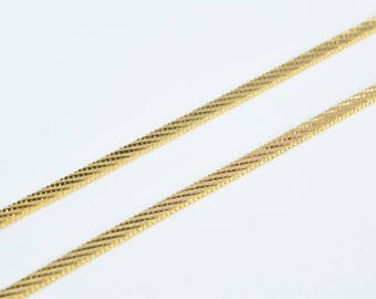 "Pinky Gold Filled Square Maille Chain Diamond Cut 17"" Inch 18k Gold-filled 2mm Width 1mm Thickness gold filled jewelry making CG93"