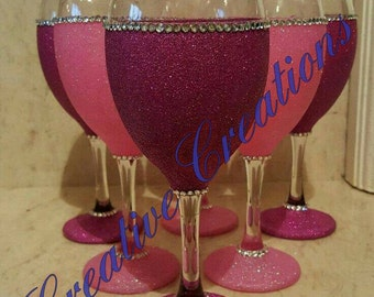 Bridal shower wine glasses